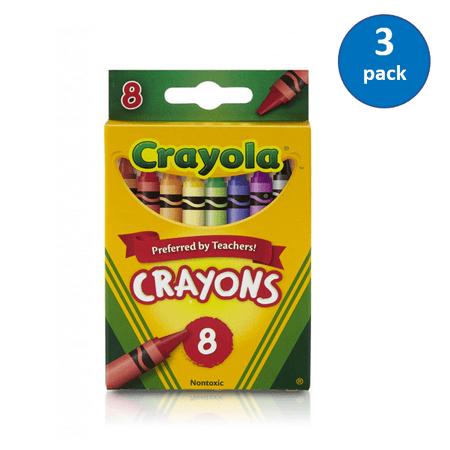 (3 Pack) Crayola Crayons, School Supplies, 8 Count (Crayon Centerpieces)