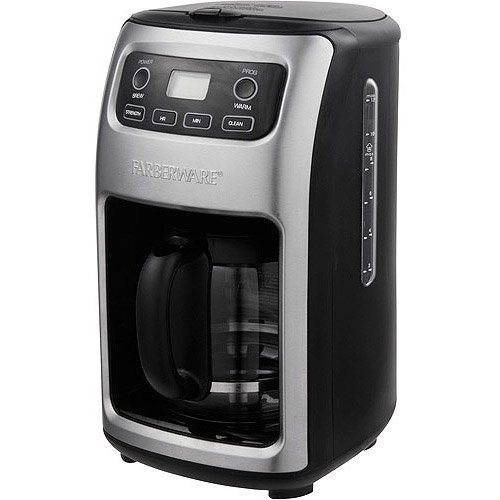 Farberware 12 Cup Digital Programmable Coffee Maker Stainless Black