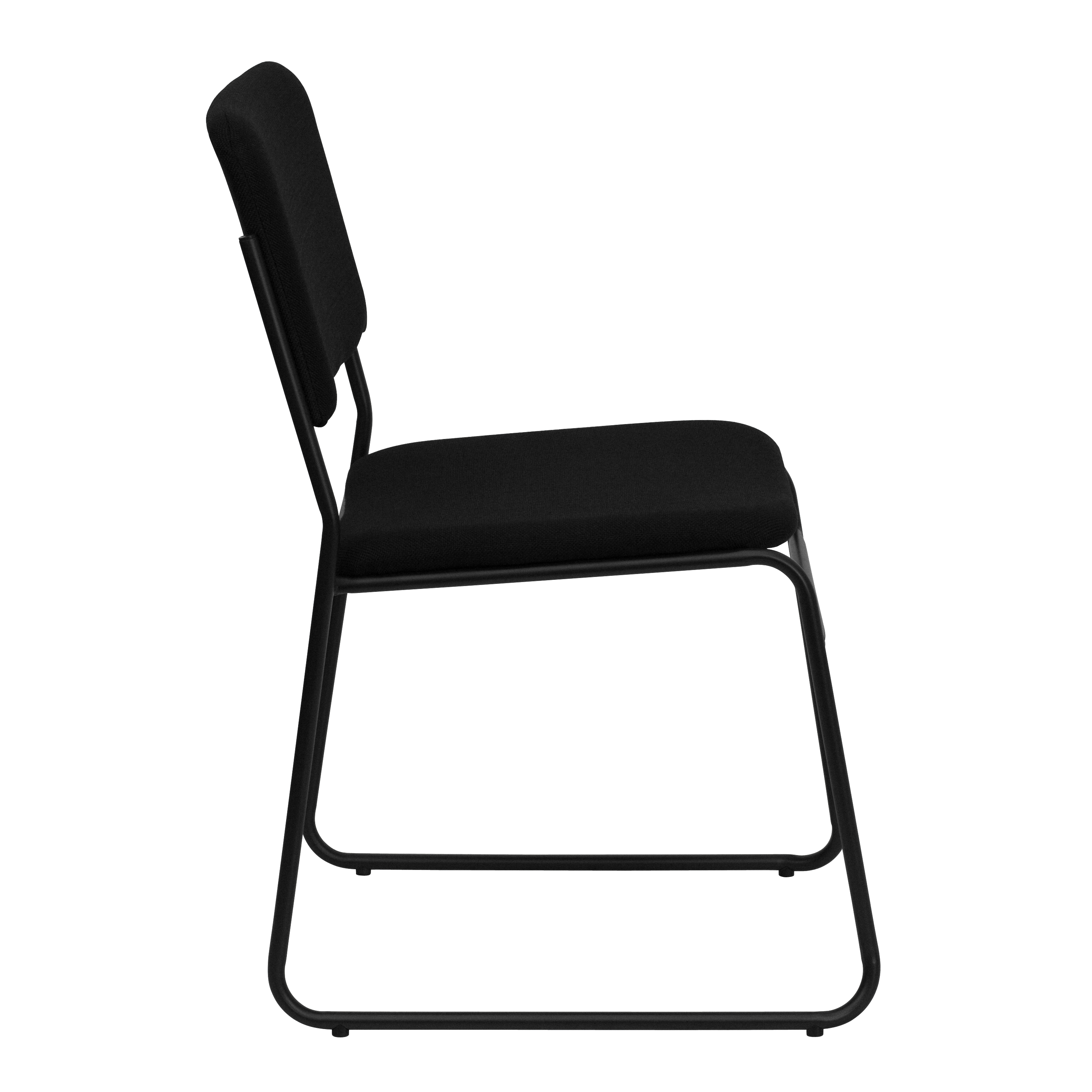 4 Pack Rated Black Fabric Stack Chair Flash Furniture HERCULES Series Big /& Tall 1000 lb