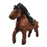 Horse Pinata, Brown, 22in x 19in