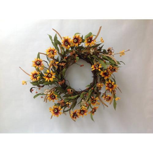 Mills Floral Sunflower Buttercup Wreath