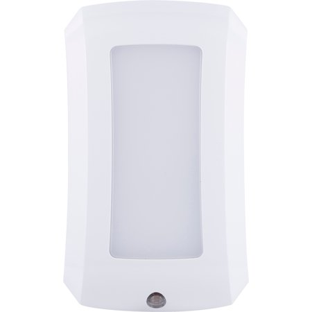Energizer Decor LED Plug-In Light-Sensing Night Light, Glossy White, (Glossy Night Light)
