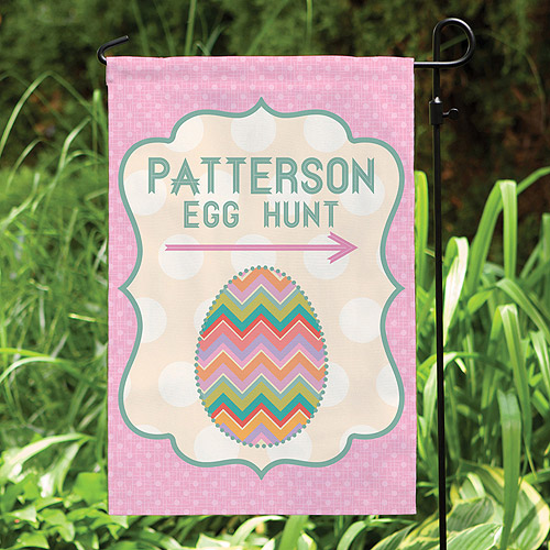 Personalized Easter Egg Hunt Garden Flag