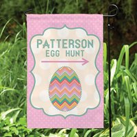 Personalized Easter Egg Hunt Garden Flag