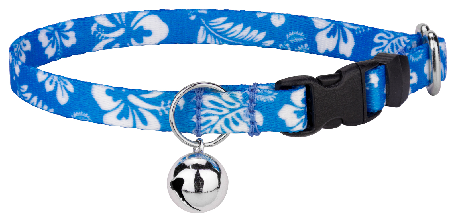Country Brook Design Blue Hawaiian Cat Collar by Country Brook Design