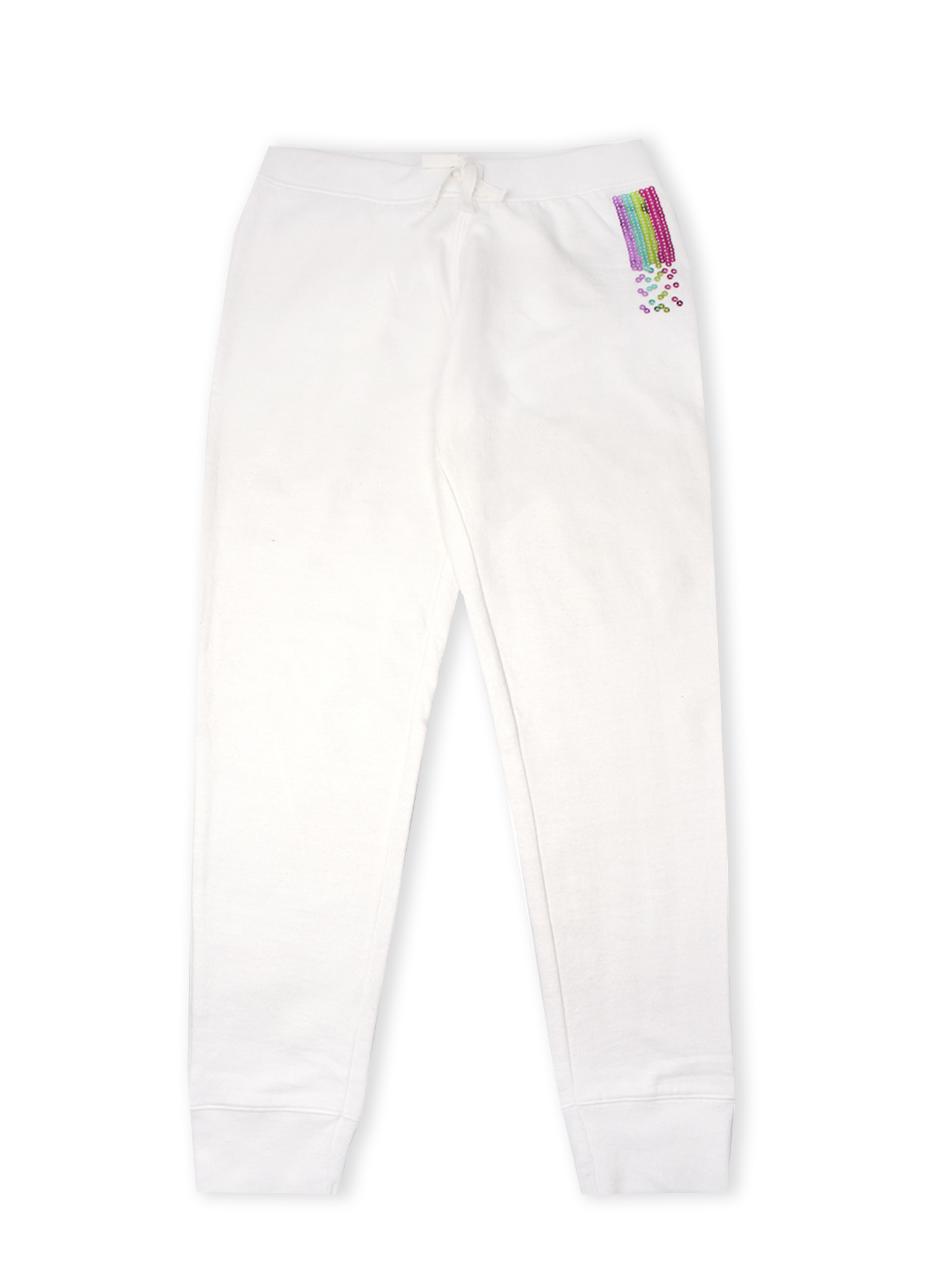 Rainbow Sequin French Terry Jogger Pant (Little Girls & Big Girls)