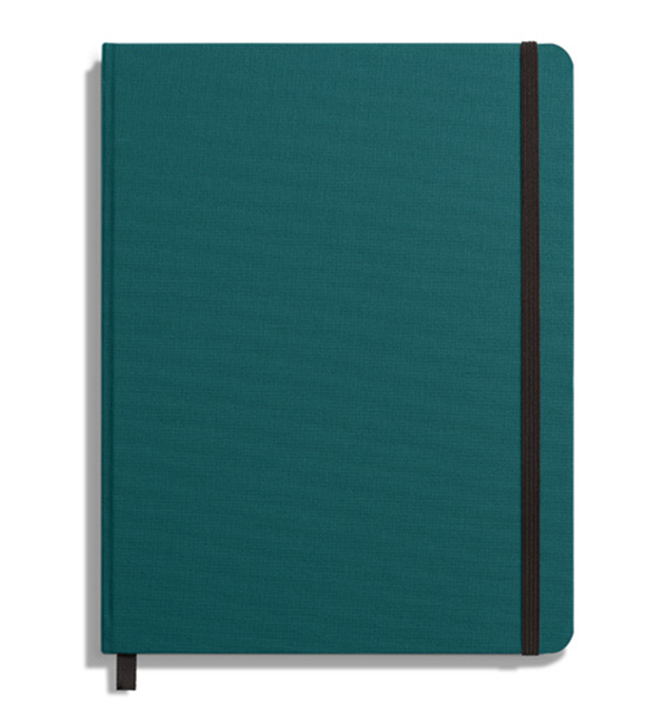 Shinola Journal Hardlinen Grid Dark Teal 5 25x8 25