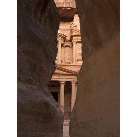 View of the Treasury from the Siq, Petra, Unesco World Heritage Site, Wadi Musa, Jordan Print Wall Art By Christian