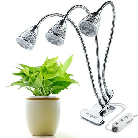 Plant A Lamp (HURRISE 10W Dual Head Led Grow Light Plant Growth Gooseneck Desk Clip Lamp  with 360 Degree Flexible )