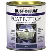 Flat Blue, Rust-Oleum Marine Coatings Boat Bottom Antifouling Paint, Quart
