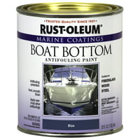 Rust-Oleum Marine Coatings Boat Bottom Antifouling Paint Flat Blue, Quart