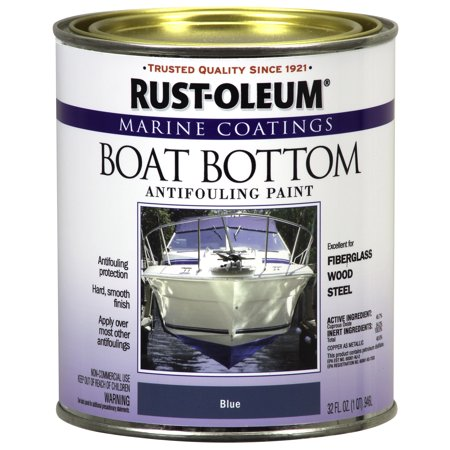 Rust-Oleum Marine Coatings Boat Bottom Antifouling Paint Flat Blue,