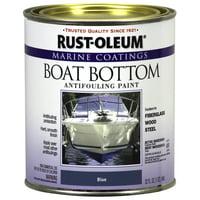 Rust-Oleum Marine Coatings Boat Bottom Antifouling Paint Flat Blue, Quart