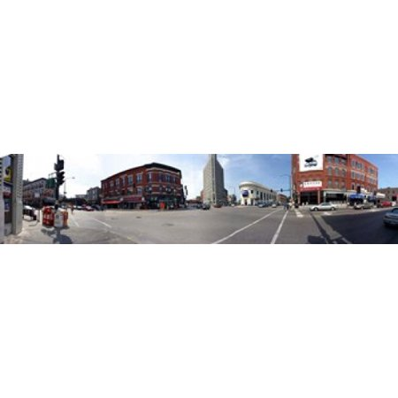 Buildings in a city Wicker Park and Bucktown Chicago Illinois USA Stretched Canvas - Panoramic Images (44 x 10) ()