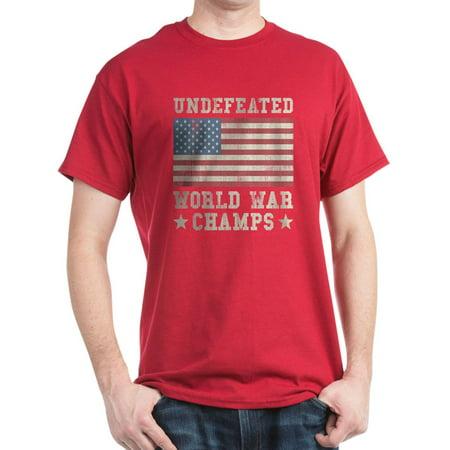 CafePress - Undefeated World War Champs Dark T Shirt - 100% Cotton