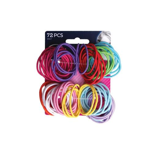 Goody Ouchless No Metal Gentle Elastics, Assorted Colors 72 ea (Pack of 2)