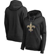 New Orleans Saints NFL Pro Line Women's Primary Logo Plus Size Pullover Hoodie - Black
