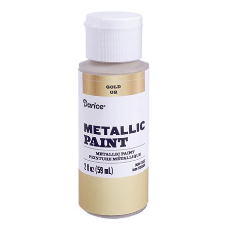 Paint shiny details on wood crafts and posters with this metallic acrylic paint. Create designs on smooth stones for a fun craft and simple paperweight.