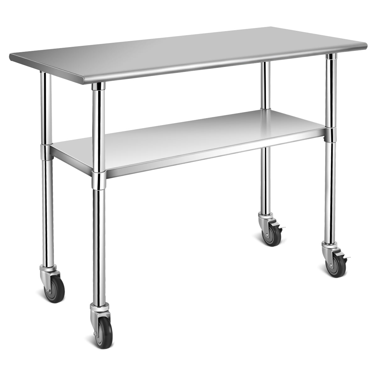 Topbuy Stainless Steel Mobile Kitchen Prep & Work Table ...