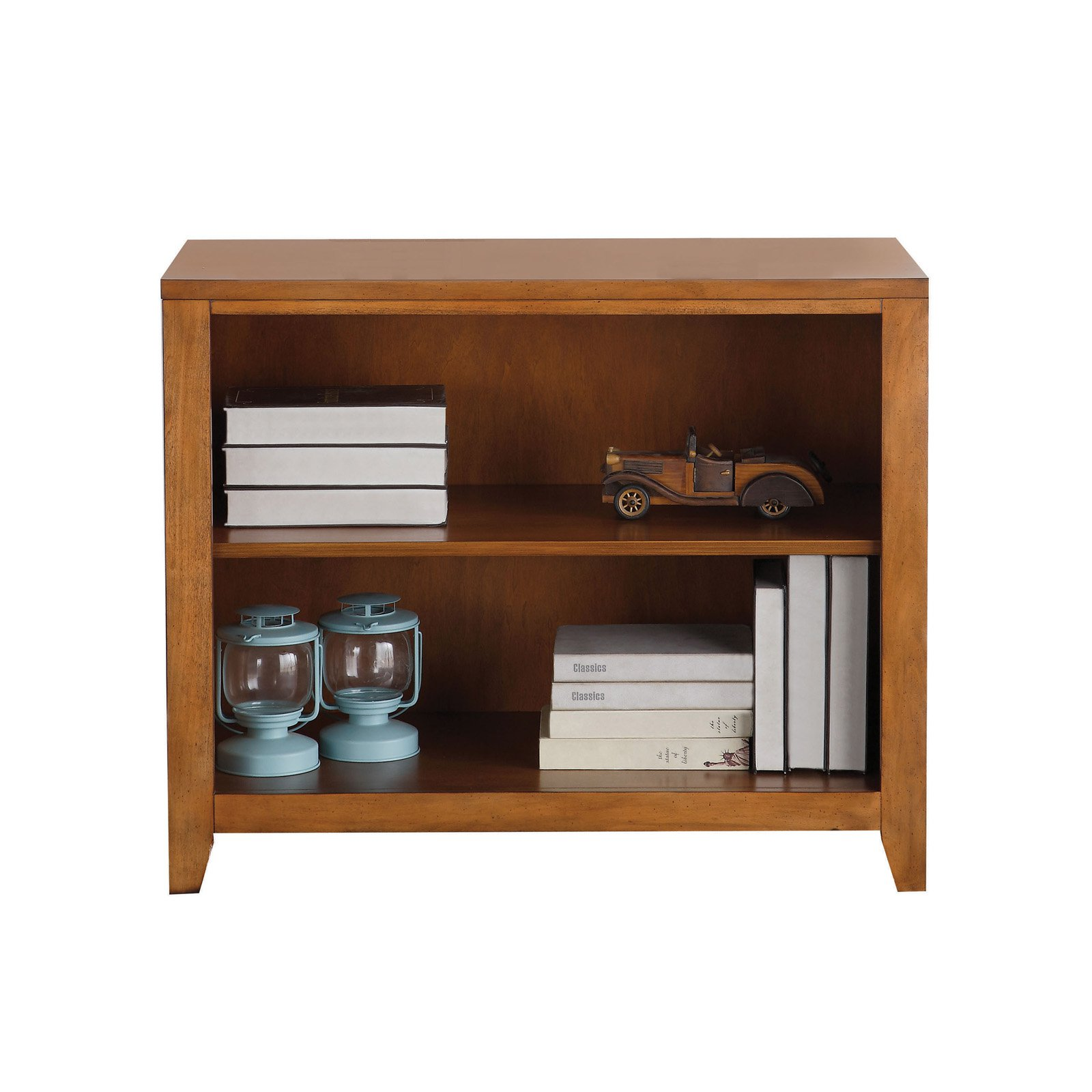 Acme Lacey Bookcase, Cherry Oak