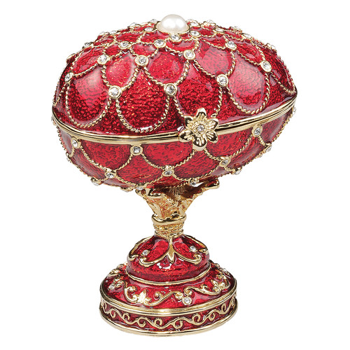 Design Toscano Royal Palace Faberge Style Enameled Eggs Gatchina