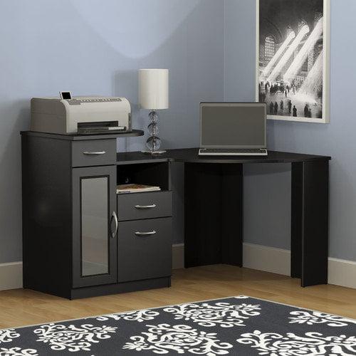 Bush Furniture Vantage Corner Computer Desk in Black