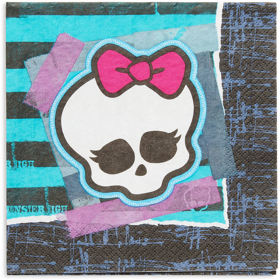 Monster High Party Paper Lunch Napkins, 16ct