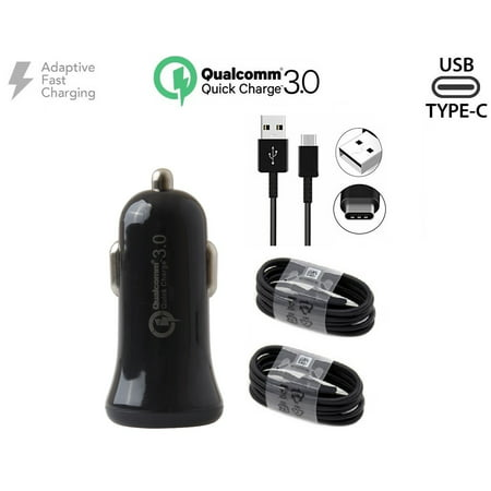 Adaptive Quick Charger w/ QC 3.0+Fast Charging USB-C Cable For HTC U11 Life Black - image 9 of 9