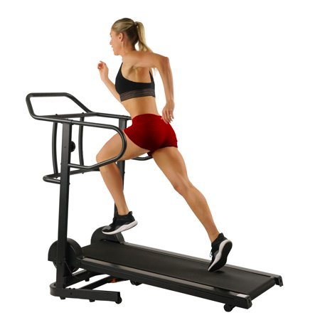 Sunny Health & Fitness Force Fitmill Manual Treadmill with 300 lb Max Weight, Magnetic Resistance and Dual Flywheels - SF-T7723