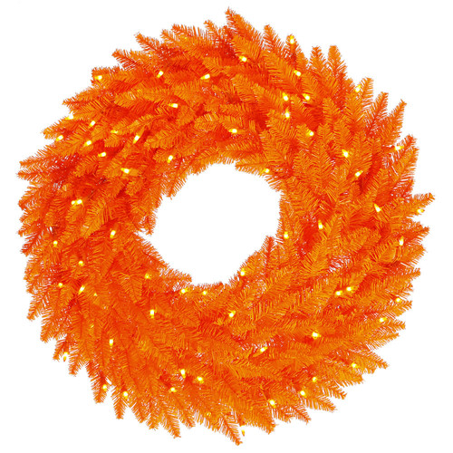 The Holiday Aisle Tinsel Red Fir Lighted Wreath