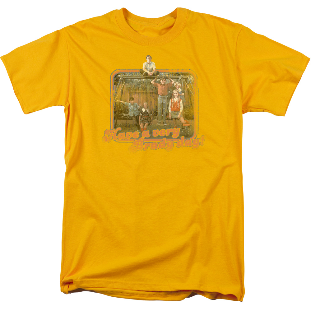 Brady Bunch Men's  Have A Very Brady Day! T-shirt Gold