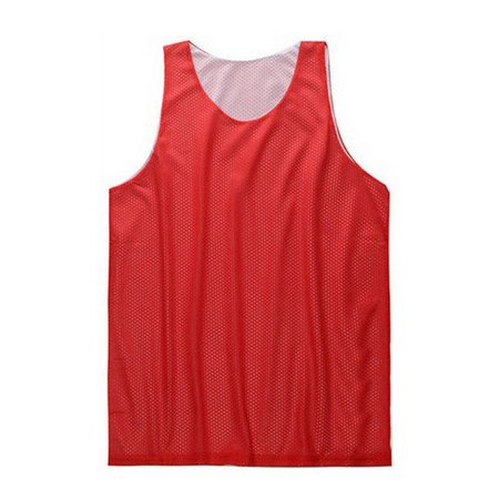TopTie Men's Tank Top, Reversible Mesh Tank, Basketball Jerseys, Lacrosse Jersey-Red/White-XL Adidas Reversible Mesh Jersey