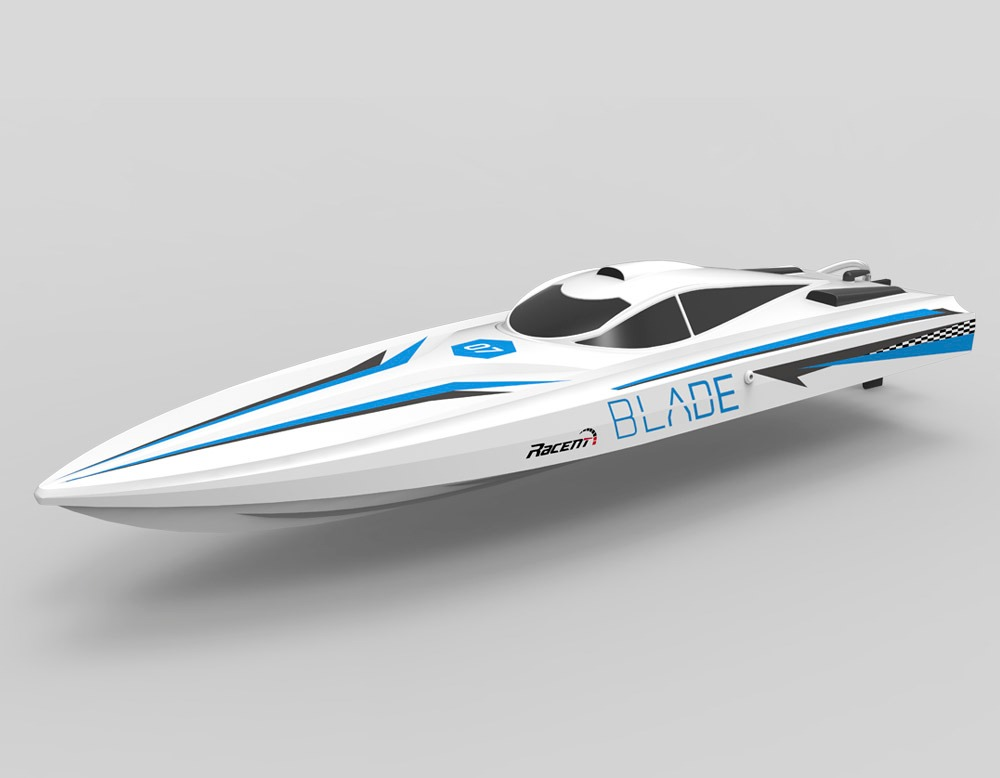 """2.4Ghz Remote Control 26"""" Blade Saw-Blade Hull Racing Boat Unibody w Brushless Motor RC RTR Blue by"""