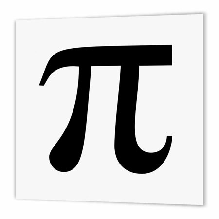 3dRose Pi symbol math sign. Mathematical black and white mathematics number, Iron On Heat Transfer, 10 by 10-inch, For White