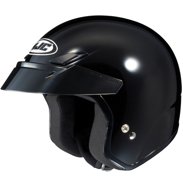HJC CS-5N Open Face Motorcycle Helmet Gloss Black XS