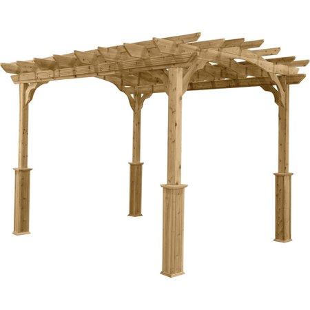 Suncast 10 Ft W X 12 Ft D Solid Wood Pergola Walmartcom