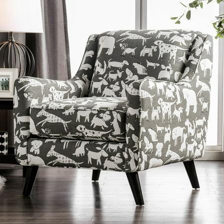 Furniture Of America Odella Gray Dog Accent Chair
