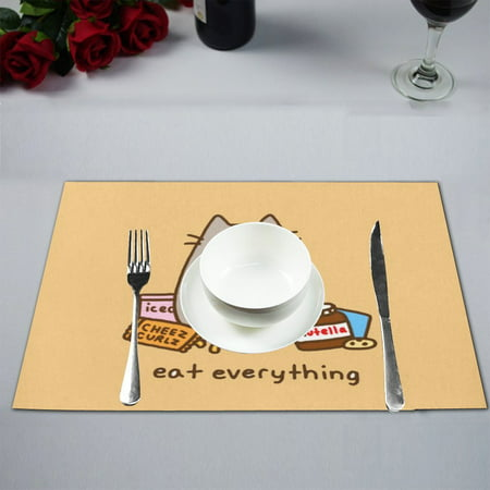 MYPOP Cat Eat Every Thing Table Placemat Food Mat 12x18