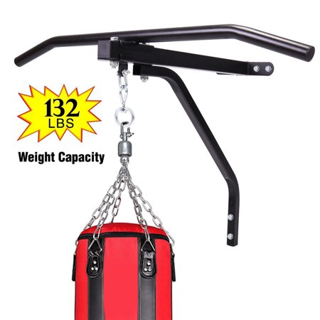 Jaxpety Wall Mount Punch Bag Bracket Steel Hanging Boxing Rack Chin Up Pull - Blow Up Boxing