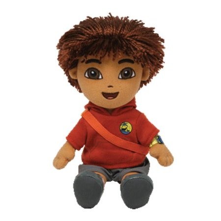 Cp New Ty Beanie Babies Diego, Go Diego Go - Diego Animal Rescue (Red top) Plush Stuffed Animal Plush 6