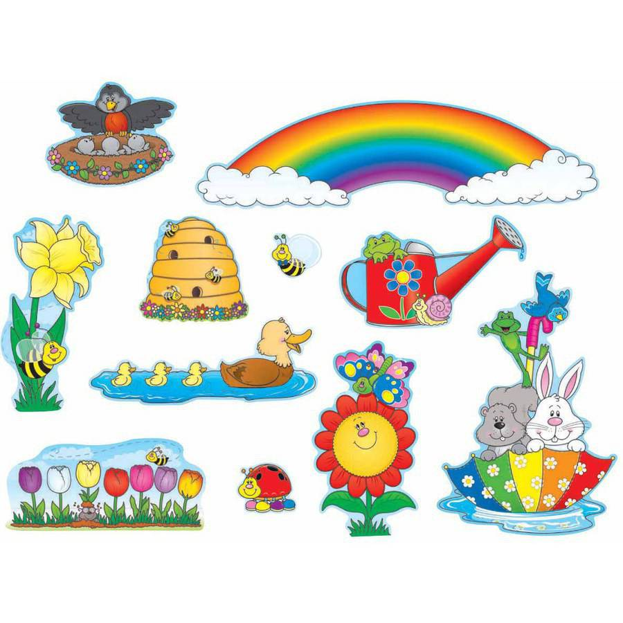 Carson-Dellosa Spring Design Mini Bulletin Board Set, 41 Pieces