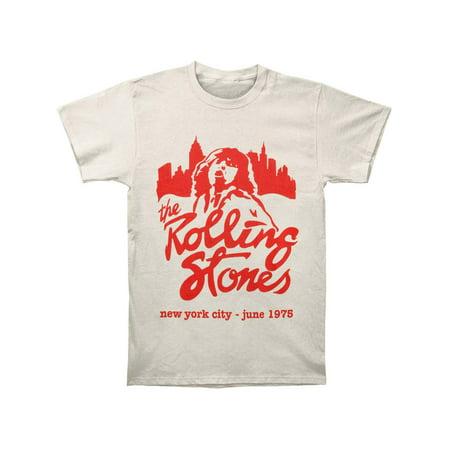Rolling Stones Men's  Mick June 1975 NYC T-shirt Beige