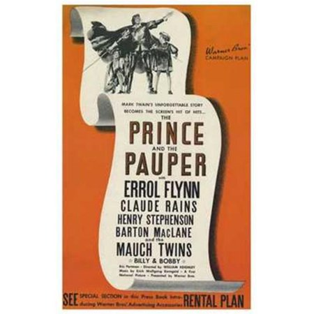 Posterazzi MOV195655 The Prince & the Pauper Movie Poster - 11 x 17 in. - image 1 of 1