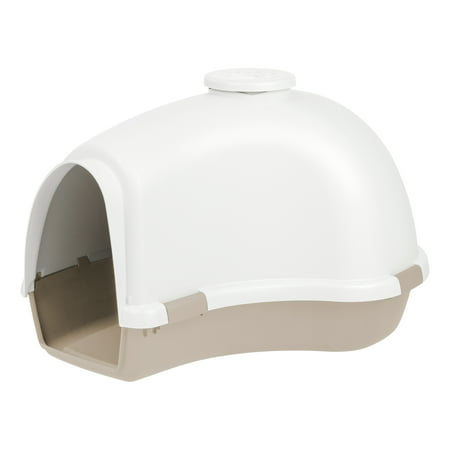 IRIS Large Igloo Shaped Dog House, White/Almond ()