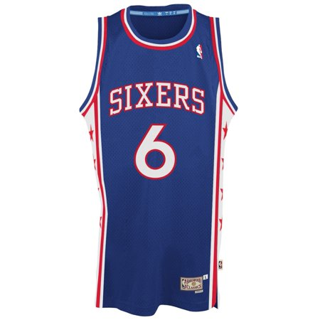 Julius Erving Philadelphia 76ers Adidas NBA Throwback Swingman Jersey Blue by