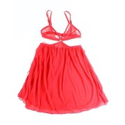 Honeydew NEW Red Open Cup Women's Size Medium M Babydoll Chemise
