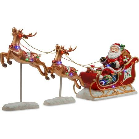 Santas Sleigh and Reindeer Assortment - Santa Sleigh Silhouette