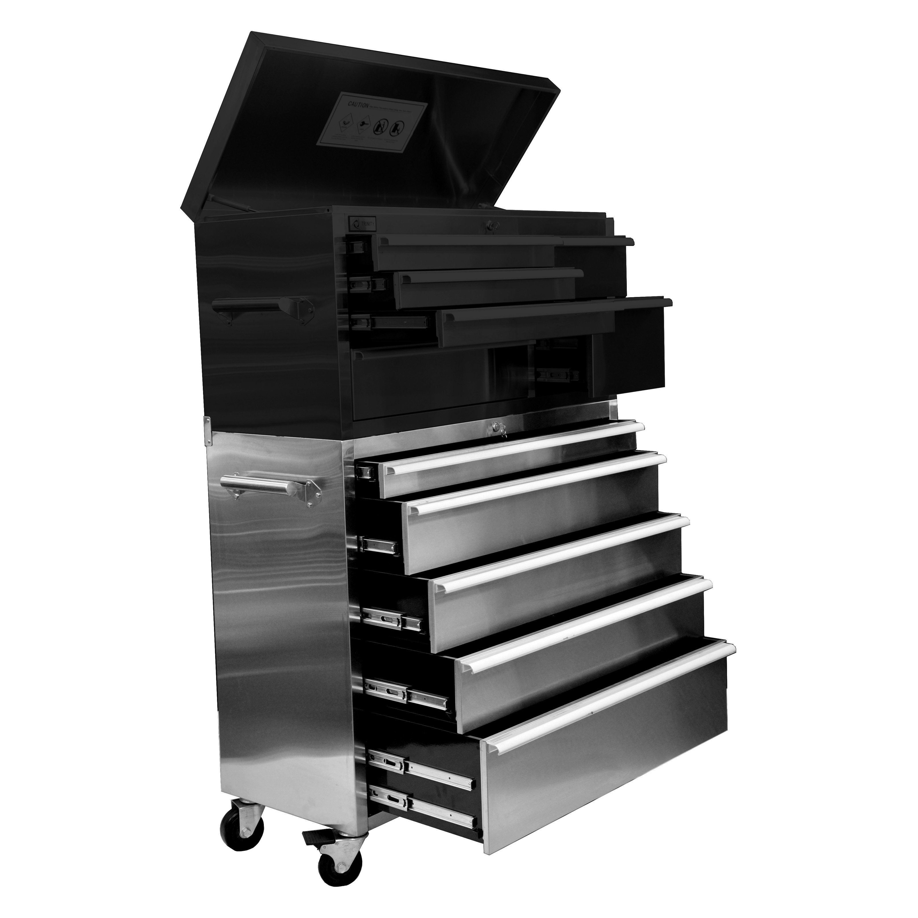 stainless steel roller tool chest walmartcom - Tool Cabinets