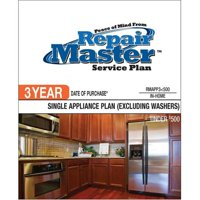 Repair Master RMAPP3 500 3-Yr Date of Purchase Single Appliance-No Washer - Under $500