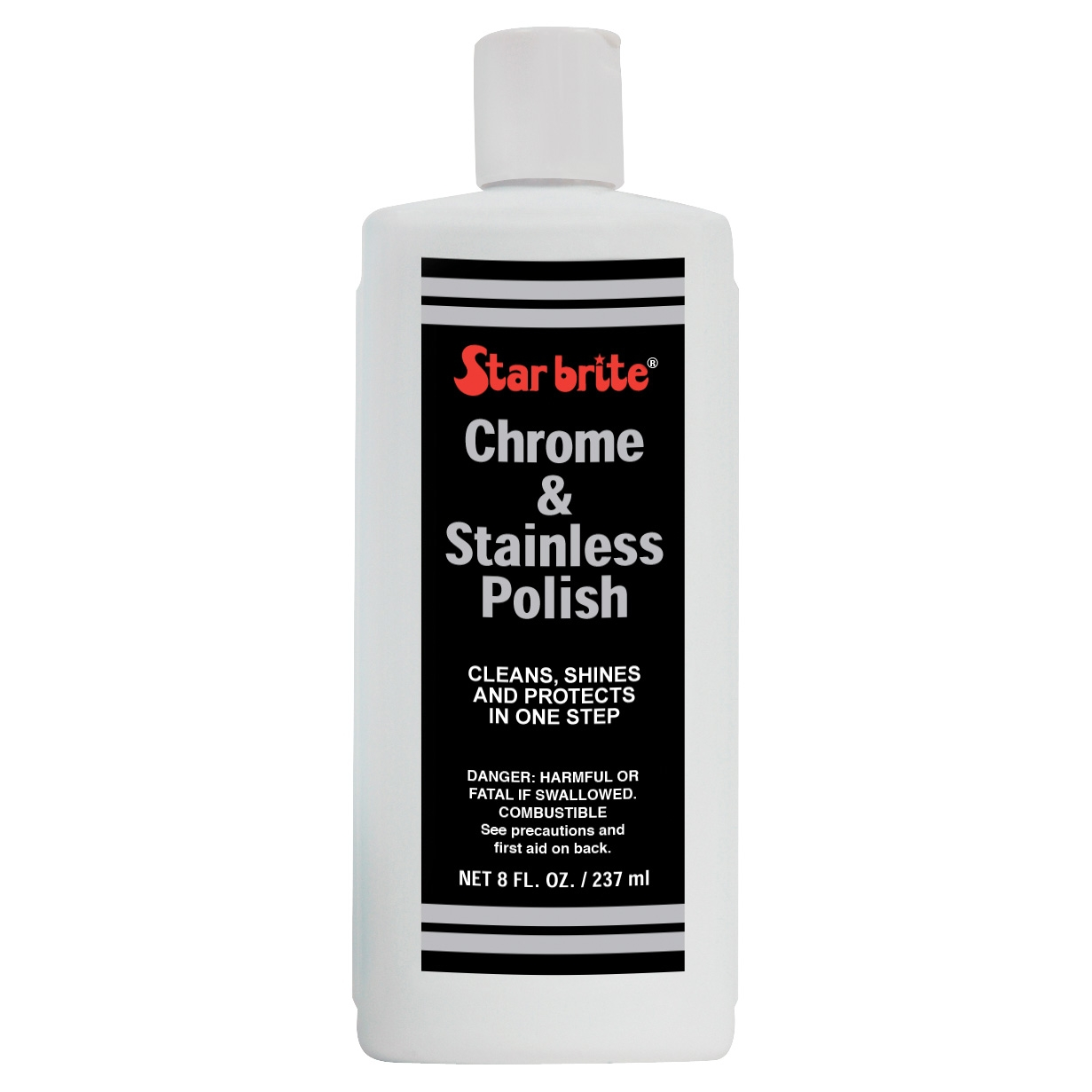 STAR BRITE Chrome & Stainless Polish Bottle  8 oz #713441